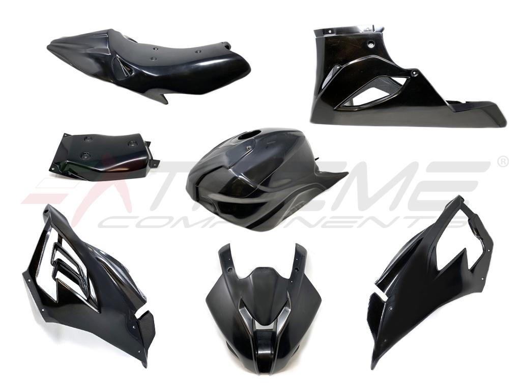 Fairings In Black Fiber Racing Bodywork Fairing Front Upper Race Fairing Side Panels Lower Race Fairing Rear Tail Sbk Tank Cover For Bmw S1000rr 2019 2021